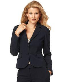 Calvin Klein Jacket, Long Sleeve Flap Pocket Blazer - Womens Jackets & Blazers - Macy's