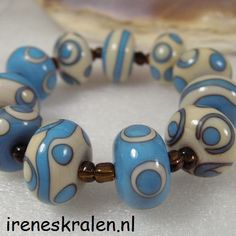 Colour Combinations, Lampwork Beads, Beaded Jewelry, Glass Beads, Jewelry Design, Crafts, Blue, Etsy, Vintage