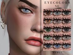 Eyecolors in 12 Colours. Found in TSR Category 'Sims 4 Female Costume Makeu… Eyecolors in 12 Colours. Found in TSR Category 'Sims 4 Female Costume Makeup' The Sims 4 Skin, The Sims 4 Pc, Sims 4 Cas, Sims Cc, Sims 4 Cc Eyes, Sims 4 Cc Makeup, Mod Makeup, Sims 4 Mods Clothes, Sims 4 Game Mods