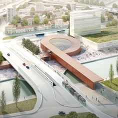 Danish firm Bjarke Ingels Group has revealed plans for a loop-shaped station for Paris' metro, which it has developed with Silvio d'Ascia Architecture