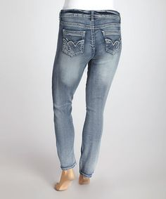 Take a look at this Sky Ankle Skinny Jeans - Plus by WallFlower Jeans on #zulily today!