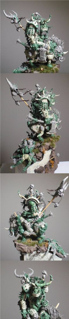 Orc warboss - Built completely from scratch, a truly piece of art. One of those things that I would never put into a dungeon: a spikey nightmare!! http://amzn.to/2kgkgLT