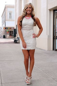 Ivory Crochet Cut Out Dress | UOIonline.com: Women's Clothing Boutique