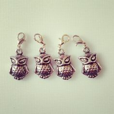 Owl crochet stitch markers by TheEclecticStitch on Etsy, Stitch Markers, Crochet Stitches, My Etsy Shop, Owl, Drop Earrings, How To Make, Owls, Crochet Tutorials, Chandelier Earrings
