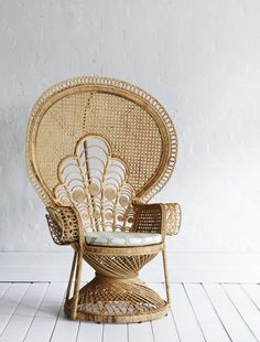Lady Peacock Chair - Natural. Seriously obsessed. <3 Family Love Tree