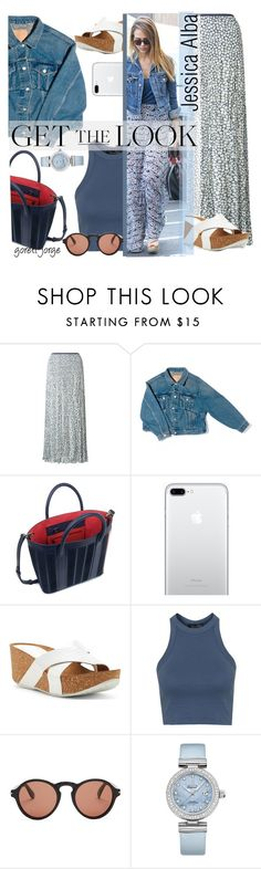 """""""Jessica Alba- Get the look"""" by goreti ❤ liked on Polyvore featuring EAST, Balenciaga, Mother of Pearl, Donald J Pliner, Topshop, Givenchy, OMEGA and CelebrityStyle"""