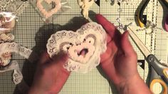 Altered heart appliqué embellishment idea tutorial