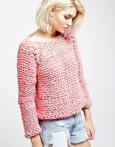 currently making - the cocoon sweater from wool and the gang (easy level)