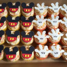 12 Fondant Mickey Mouse cupcake toppers by SweetCakeArts on Etsy