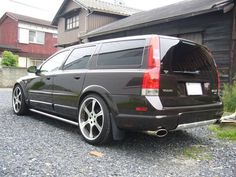 """uncannydrive: """" Volvo XC70 with proper ride height and trim paint. Looks amazing. """" Just like we like our wagons; wide and very very angry."""