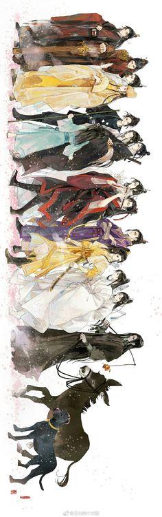 The untamed charaters Manga Art, Manga Anime, Character Art, Character Design, Wow Art, Handsome Anime, Animes Wallpapers, Chinese Art, Asian Art
