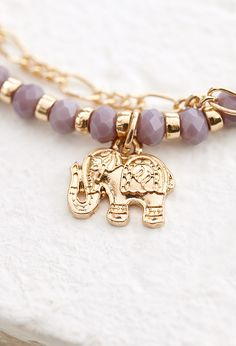 Layered Elephant Charm Bracelet | Forever 21 | #f21accessorize