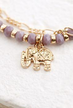 Layered Elephant Charm Bracelet   Forever 21   #f21accessorize