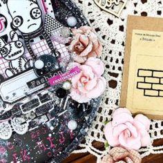 visuel produits graffiti girl , papiers noir et rose