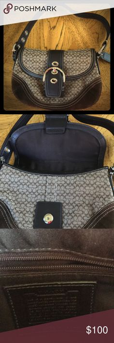 Coach handbag 100% Authentic coach handbag with wallet and coin bag. Gentle used. Coach Bags Shoulder Bags