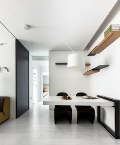 modern white and black apartment