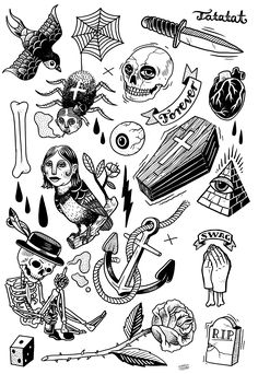 our very first TATATAT #temporary #tattoo set. Classic motives illustrated by Martin Krusche http://www.martinkrusche.de/ available on www.tatatat.de