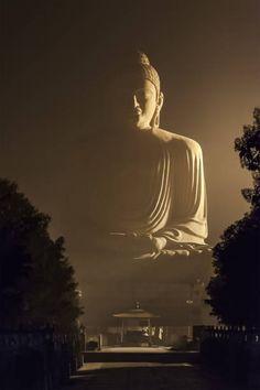 The Giant Buddha Statue is one of the many stops in the Buddhist. Gautama Buddha, Buddha Buddhism, Buddha Meditation, Buddha Artwork, Buddha Painting, Buddhist Symbols, Buddhist Art, Foto Nature, Buddha Kunst