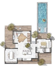 Pool House Plans, Sims House Plans, Lake House Plans, Casas The Sims Freeplay, Interior Design Presentation, Presentation Boards, Architectural Presentation, Architectural Models, Architectural Drawings