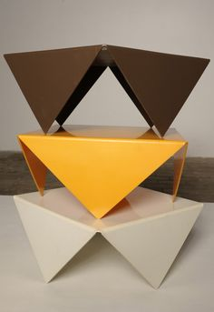 France Bertin; Molded Acrylic 'Handkerchief' Low Tables for Atelier A, 1970s.