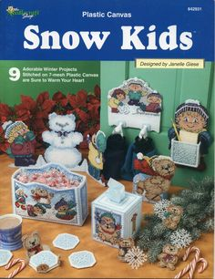 Plastic Canvas Snow Kids Winter Pattern Book - Janelle Giese - TNS 842931
