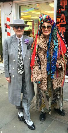 George Skeggs with Garbo on Old Compton St.