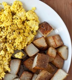 """Scrambled Tofu- """"I actually like this more than eggs because it's usually easier to clean the pan afterwards; if that isn't a good enough reason to make it, I don't know what is."""""""