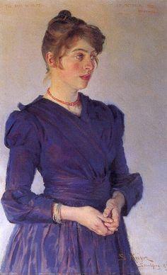 "Peder Severin Krøyer : ""Portrait of Marie Krøyer"""