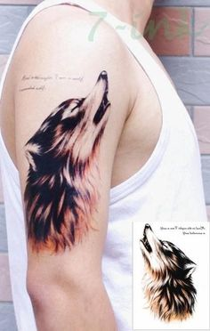 16 design Waterproof Temporary Tattoo Sticker forest wolf Water Transfer Fake Tattoo Flash Tatoos Large Size For Man Women