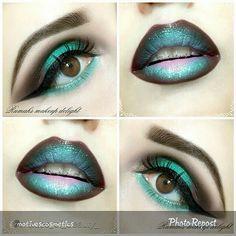 Gel Eyeliner, Mascara, Septum Ring, Makeup Looks, Halloween Face Makeup, Make Up, Lipstick, Beautiful, Jan 20
