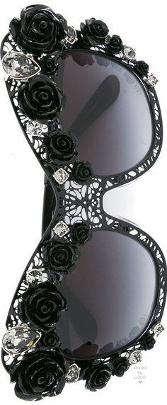 DOLCE & GABBANA lace bouquet sunglasses