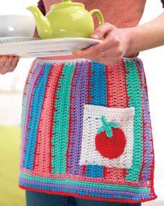 Retro crochet apron Crochet Pattern