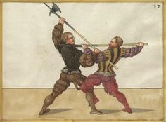 A Cut with a Throw out of the Hacken (Leg Hook) Medieval Weapons, Medieval Knight, Medieval Art, Historical European Martial Arts, Landsknecht, Sword Fight, Mystery Of History, Fantasy Weapons, Western Art