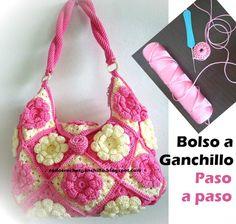 Todo crochet: Bolsas Tejidas a Ganchillo / Paso a paso ~ tutoria...