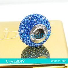 施華洛世奇80101 水鑽密鑲串飾 藍寶石 (206) 14mm 適用施華洛世奇魅力手鍊 蛇鍊 歐洲粗鍊 新到貨
