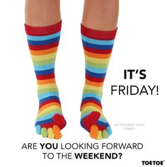 Friday! #TOETOE #TOETOESocks #Fridayfeeling #Socks
