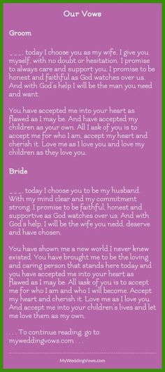 Wedding Vows - Your Wedding Ceremony - 4 Easy and Fun Steps to Create a Fun and Personalized Ceremony   #FunnyWeddingVows