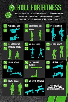 Spice up your fitness routine with this roll the dice workout! A fun bodyweight workout you can do at home or at the gym. Requires no equipment and is modifiable for all fitness levels! Fit Board Workouts, Fun Workouts, At Home Workouts, Fitness Workouts, Fitness Games For Kids, Exercise For Kids, Gym Routine For Beginners, Outdoor Activities For Adults, Gym Supplements