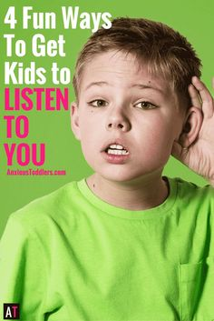 Are you tired of being ignored all day? Do your kids not listen? Use these fun listening exercises for kids and make listening more fun!
