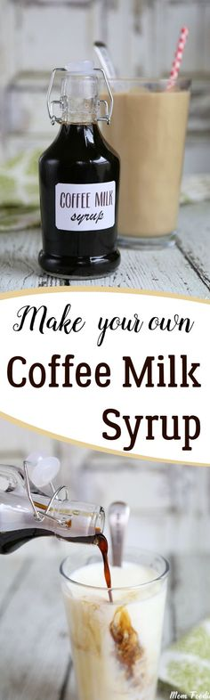 Coffee Milk Syrup Recipe to make the Rhode Island favorite, Coffee Milk & Free Printable Labels for the bottles. #Folgers #ad