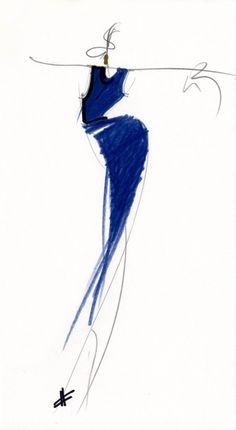 Fondazione Gianfranco Ferré / Collezioni / Donna / Prêt-à-Porter / 1989 / Primavera / Estate Illustration Mode, Fashion Illustration Sketches, Fashion Sketchbook, Fashion Sketches, Fashion Drawings, Paper Fashion, Fashion Art, Gianfranco Ferre, Ferrat