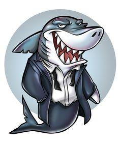 Casino Shark Mascot Design