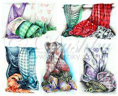 curtains fall 1 by *dushky on deviantART Pastel, Curtains, Watercolor, Deviantart, Patterns, Fall, Pen And Wash, Block Prints, Autumn
