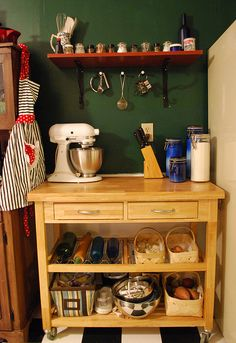 Baking corner: all the ingredients and tools I need in one place