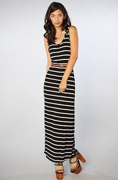 Long stripe summer dress