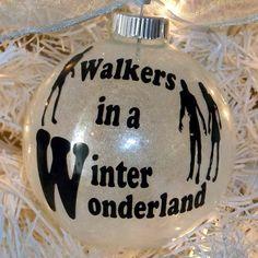 Walking Dead Christmas Ornament, Walkers Ornament, Zombie Christmas, Walking Dead Decor, Winter Wonderland Ornament