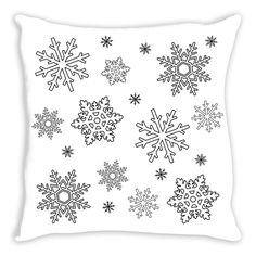 Snowflake Coloring Pillow By Tinge&Hue
