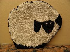 Wooly White Sheep Needle Punch Pattern by savedbygracecreation, $3.75