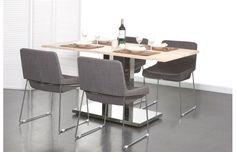 Chaise design JACOB polyester gris et acier chromé prix promo Miliboo 149,00 € TTC