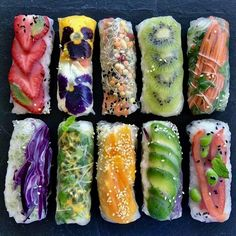 Fruit based rice paper rolls